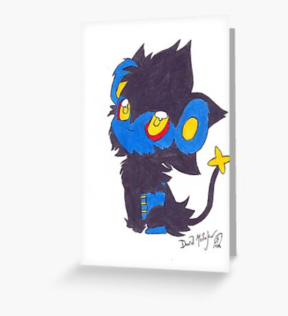 Luxray Pokemon Poster Print Greeting Card