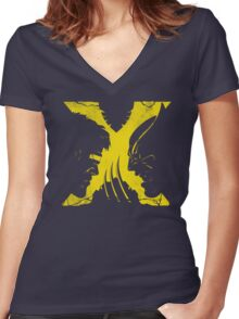 X-MUTANTS Women's Fitted V-Neck T-Shirt
