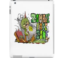 Zombie Free Zone iPad Case/Skin