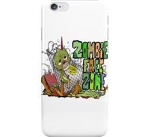 Zombie Free Zone iPhone Case/Skin