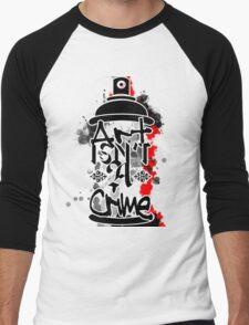 Art Isn't A Crime Men's Baseball ¾ T-Shirt