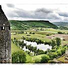 France - View from Beynac Castle by Marlene Hielema