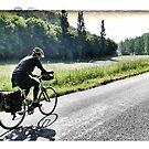 Cycling in France - morning fog by Marlene Hielema