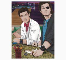 Jack Burton & Snake Plissken by Deadpoolinc