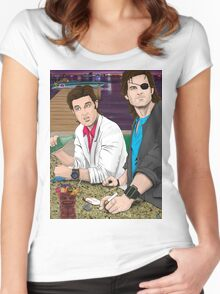 Jack Burton & Snake Plissken Women's Fitted Scoop T-Shirt