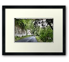 Cycling in France - Road to Sarlat Framed Print