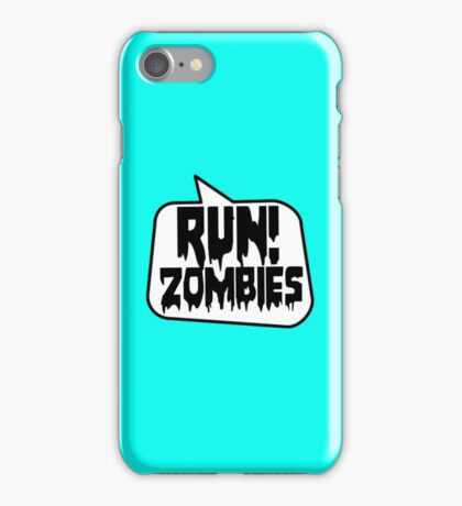 RUN! ZOMBIES SPEECH BUBBLE by Zombie Ghetto iPhone Case/Skin