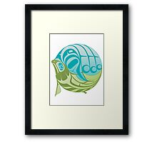 Warm circle salmon Framed Print