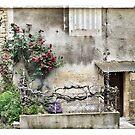 France - Back street in the medieval village of Gourdon by Marlene Hielema