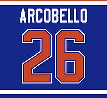 Edmonton Oilers Mark Arcobello Jersey Back Phone Case by Russ Jericho