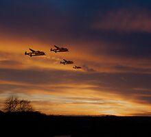 P38 Sunset Scramble by J Biggadike