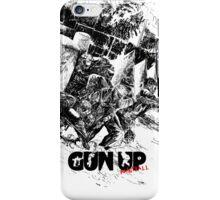 Gun Up Paintball Breakout Black/White iPhone Case/Skin