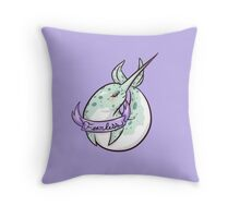 Narwhal - Fearless Throw Pillow
