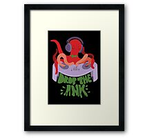 Drop the Ink! (Split Complementary) Framed Print
