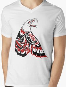 Eagle Human Mens V-Neck T-Shirt