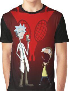Rick and Morty, Invader Zim mashup Graphic T-Shirt