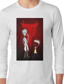 Rick and Morty, Invader Zim mashup Long Sleeve T-Shirt