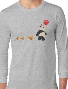 Cute Panda and Ducks Long Sleeve T-Shirt