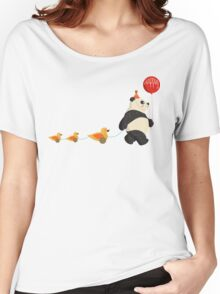 Cute Panda and Ducks Women's Relaxed Fit T-Shirt