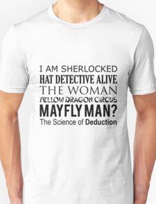 Sherlock- A Study in Typography T-Shirt
