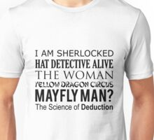 Sherlock- A Study in Typography Unisex T-Shirt