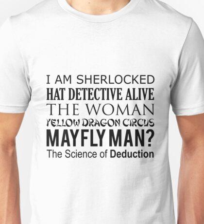 Sherlock- A Study in Typography Unisex T-Shirt