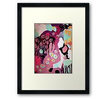 wine and roses Framed Print