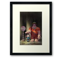 My Neighbor Stinkbrain Framed Print