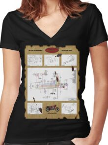 in case of... Women's Fitted V-Neck T-Shirt