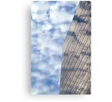 Clouds and Office Building Canvas Print