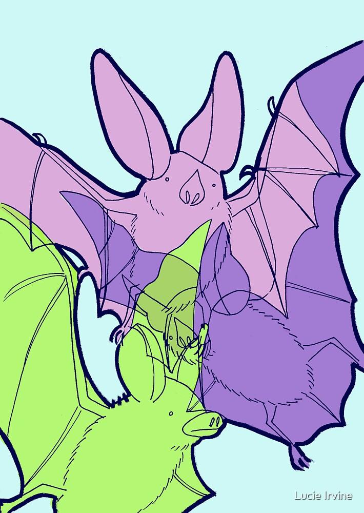 Pastel Bats by Lucie Irvine