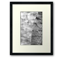 Clouds and Office Building Framed Print