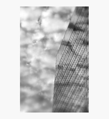 Clouds and Office Building Photographic Print
