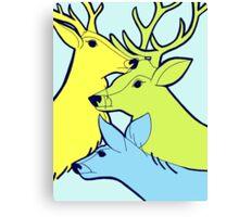 Pastel Deer Canvas Print