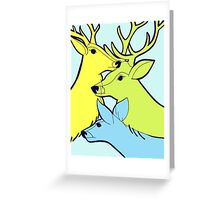 Pastel Deer Greeting Card
