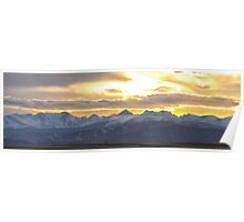 Colorado Front Range Panorama Gold Poster