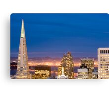 san francisco buildings by night Canvas Print