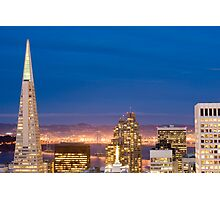 san francisco buildings by night Photographic Print
