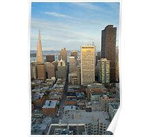 sunset cityscape san francisco Poster