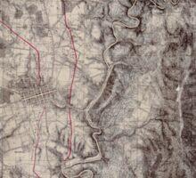 Civil War Maps 0042 Antietam Sticker