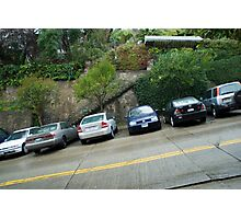 steep hill parking Photographic Print