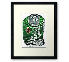 Carlsberg, Crushed Tin Framed Print