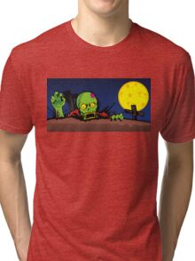 ZOMBIE GHETTO OFFICIAL ARTWORK DESIGN T-SHIRT Tri-blend T-Shirt