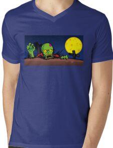 ZOMBIE GHETTO OFFICIAL ARTWORK DESIGN T-SHIRT Mens V-Neck T-Shirt