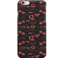 Gamer Pattern Red iPhone Case/Skin