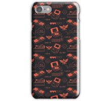 Gamer Pattern Red iPhone Case/Skin