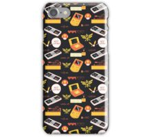 Gamer Pattern Gold iPhone Case/Skin