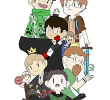 Achievement Hunter Minecraft Print ! by Bionic0wl