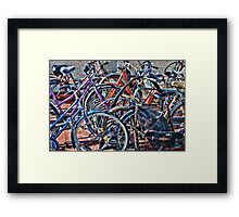 Colorfull bicycles Framed Print