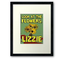 Look At The Flowers, Lizzie #2 Framed Print